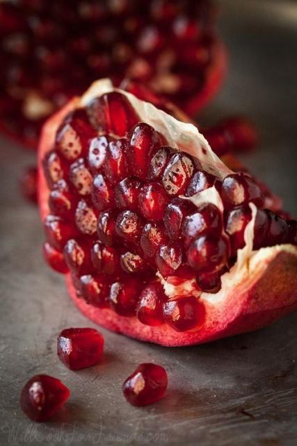 Piece of pomegranate.