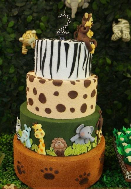 Fake Fabric Cake Safari Party