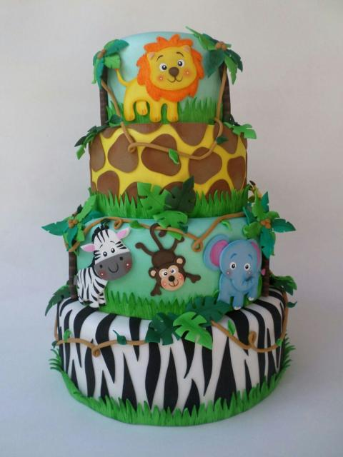 Safari party cake dough