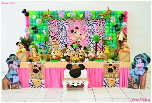 Safari Minnie Party with Fabric Panel