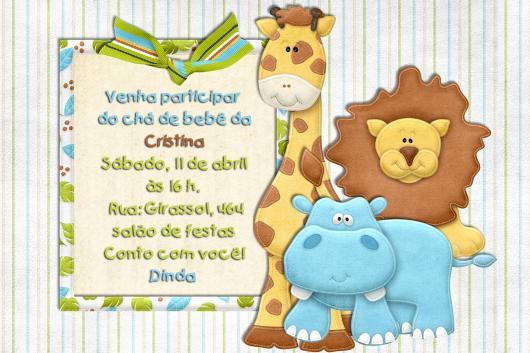 Safari Party Invitation Printed