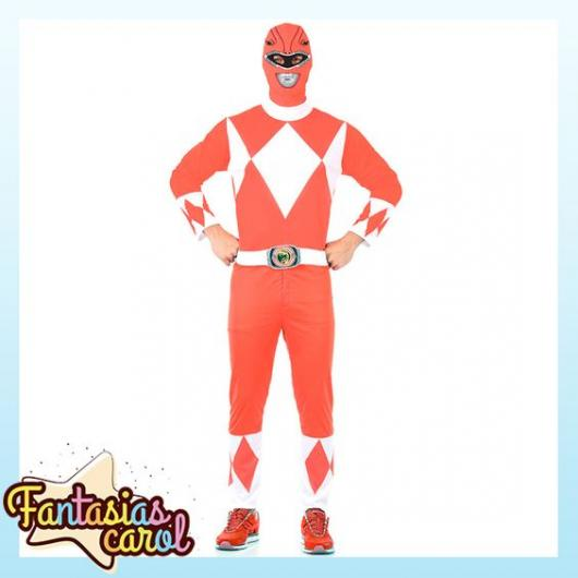 Red and white male costume.