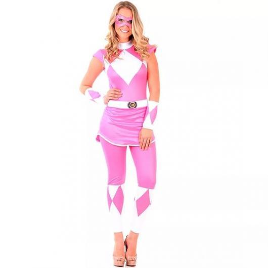 Power Rangers Pink adult costume.