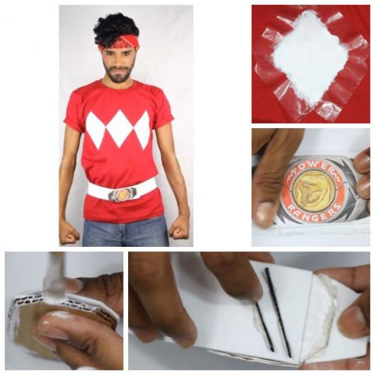 Assembly teaching how to make a Power Rangers t-shirt and belt.