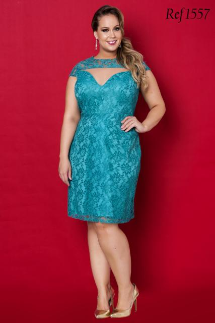Model wears light blue lace dress, model combined with nude shoes.