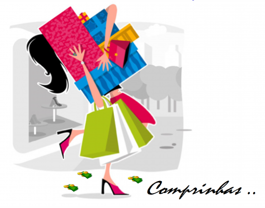 Animated illustration with cartoon shopping bags and woman carrying them.