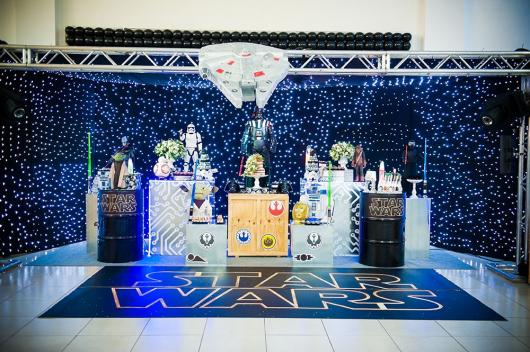 Star Wars party decoration with LED display
