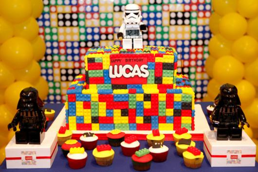 Star Wars Lego Cake Party