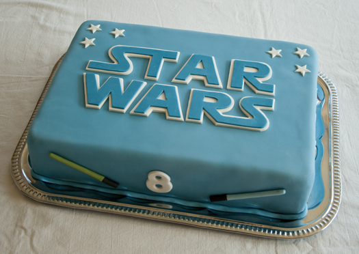 Star Wars American Blue Paste Cake Party