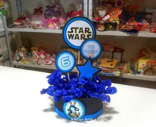 Star Wars party centerpiece candy holder