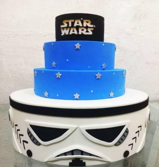 Star Wars party fake EVA cake