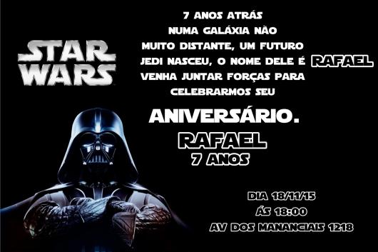 Star Wars Party Invitation Printed