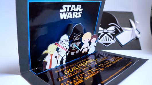 Star Wars Party Invitation 3d