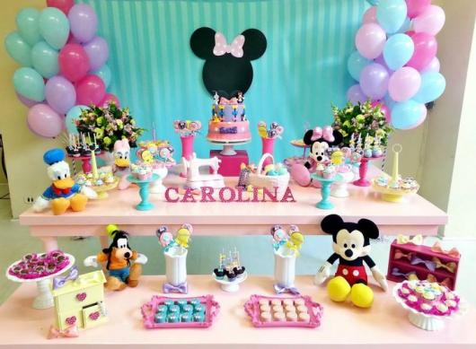 Pink Minnie Party with colorful