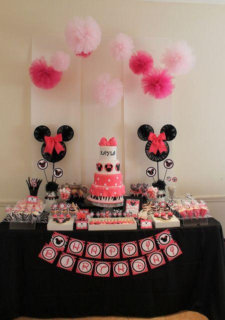 Minnie Party Pink with Simple Black