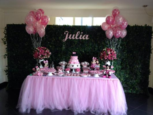 Simple Pink Minnie Party with Balloons