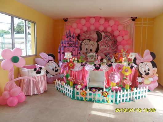 Pink Minnie Party Decoration Baby