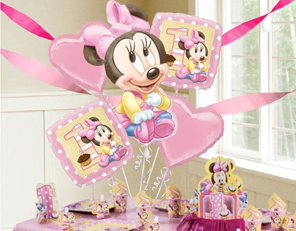 Minnie pink baby party decoration