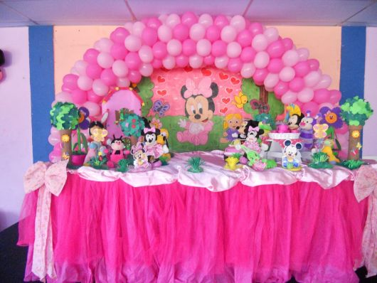 Minnie pink baby model party