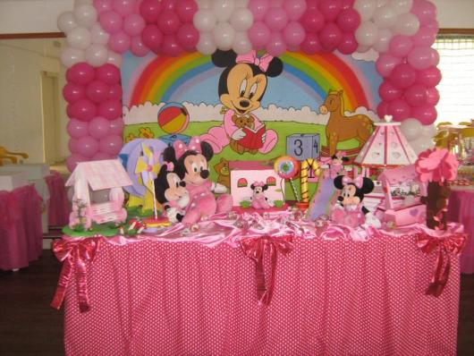 decoration Minnie party pink baby