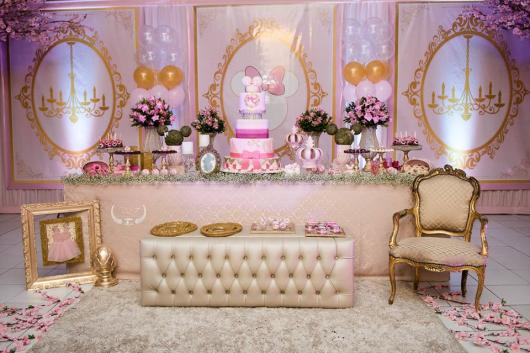 Minnie's party pink with gold