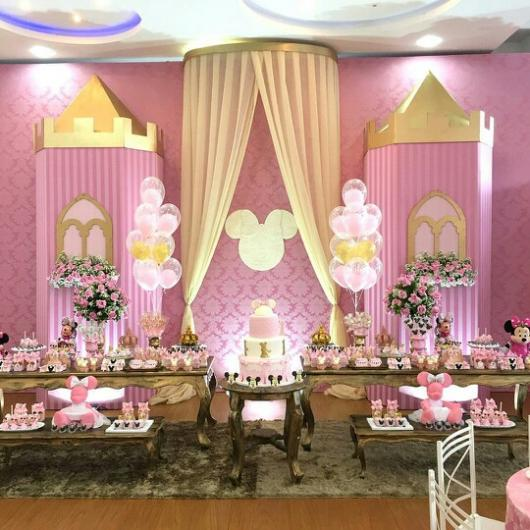 Minnie Party Pink Decor Gold