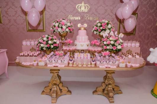Minnie Party Pink Gold Details