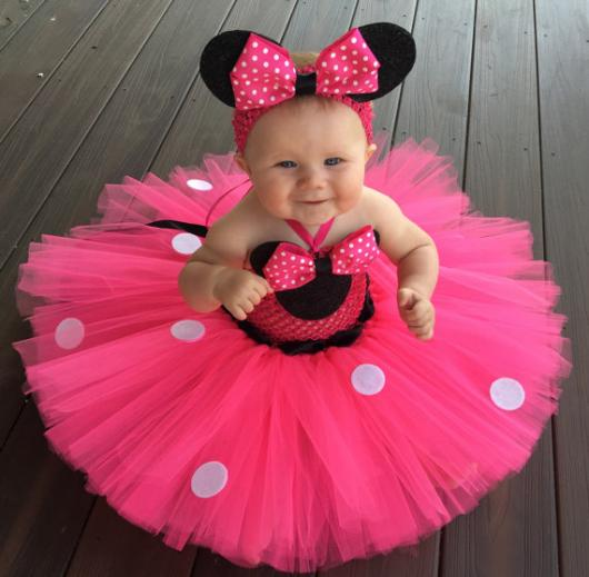 Pink Minnie Party Dress for Baby