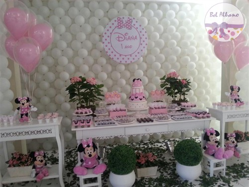 Pink Minnie Party 1 year old