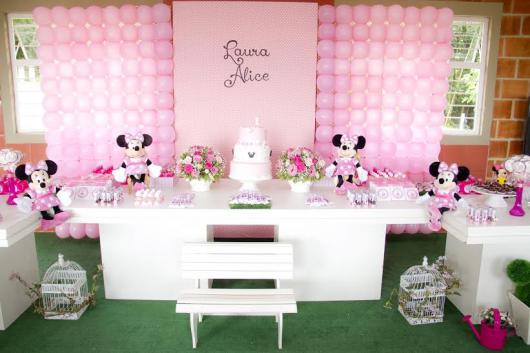 1 Year Pink Minnie Party