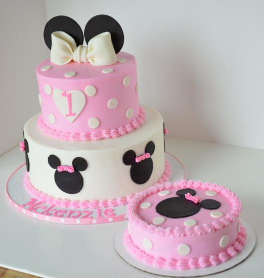 cake tip Minnie pink party