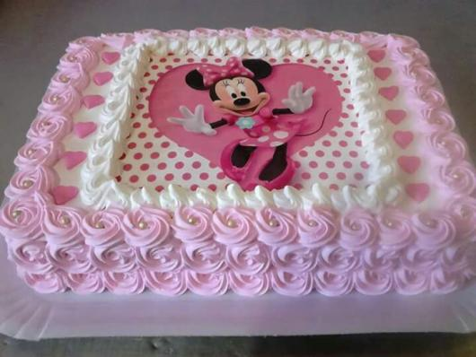 Minnie's Party Pink Simple Cake