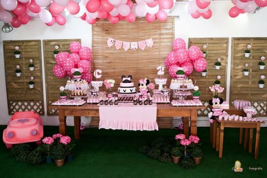 Minnie Party Pink 1 Year Decoration