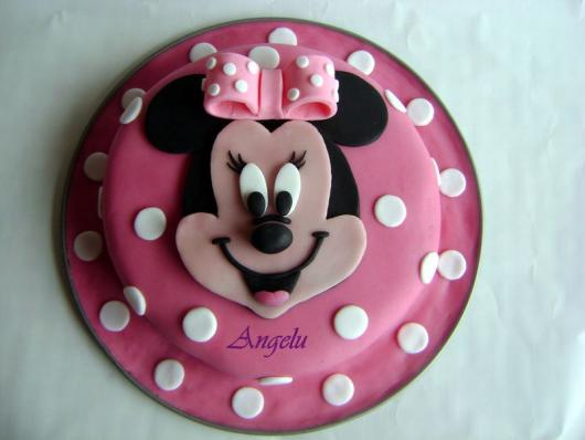 Minnie's Party Pink Cake Simple American Folder