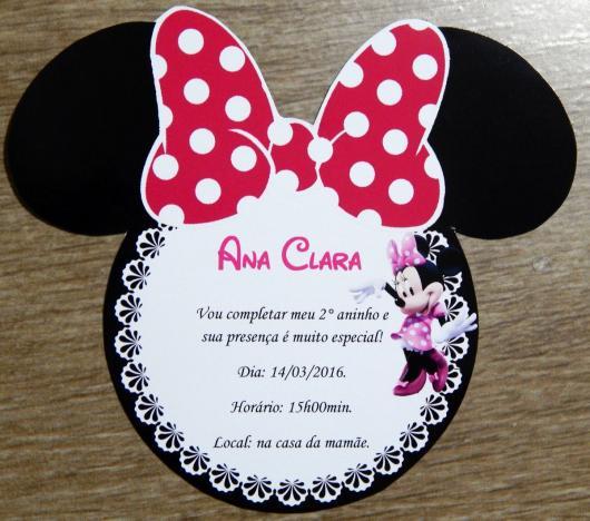 Minnie's Party Pink Invitation
