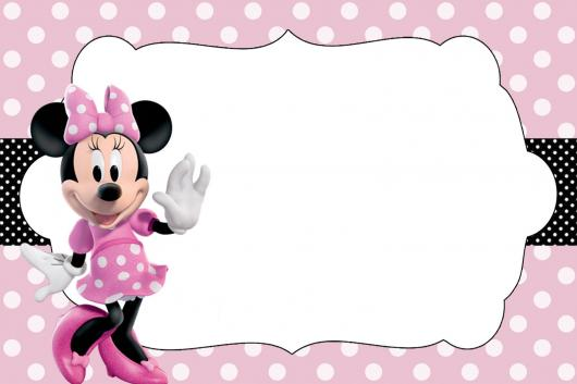 Minnie's party pink in white
