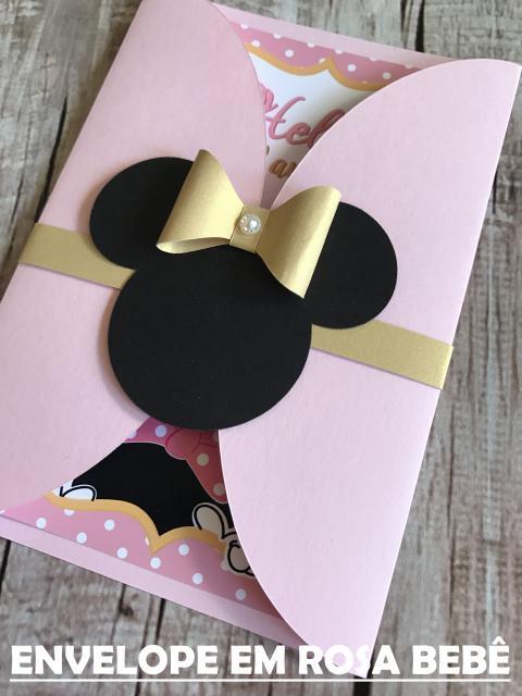 Minnie's Party Pink Golden Invitation