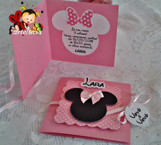 Minnie Pink Party Invitation Template