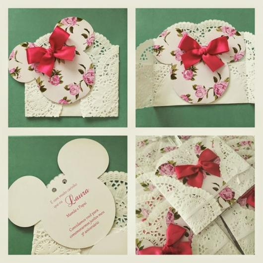Minnie's Party Pink Delicate Invitation