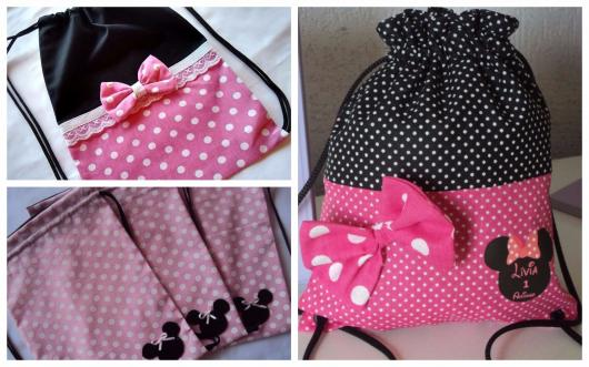 Minnie party favors cloth bags
