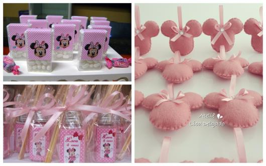 pink minnie party favors