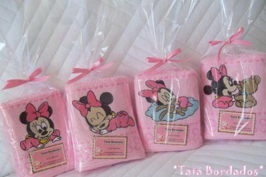 Minnie Party Pink Souvenir Washcloths