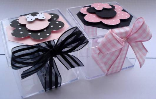 Minnie Party Pink Party Favor Boxes