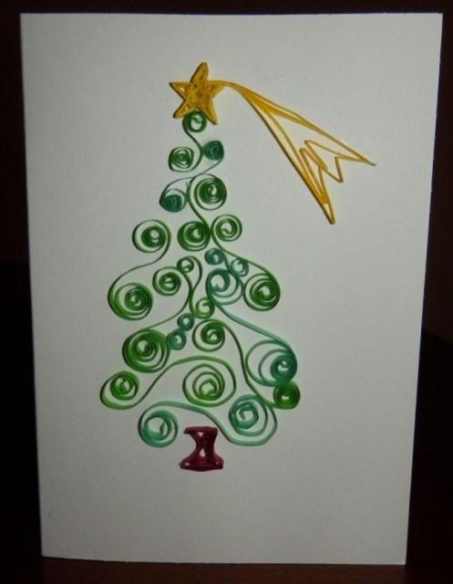 Quilling decorated card