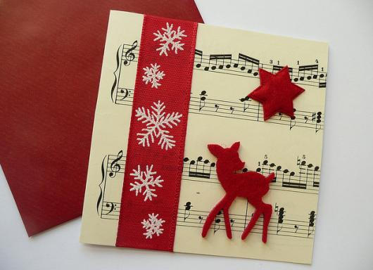 musical card decoration