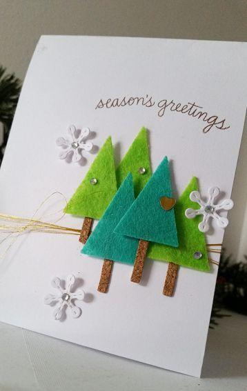 felt decorated card
