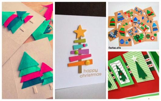 cards decorated in felt