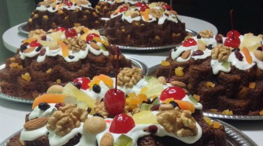 Simple Christmas Cake Nuts and Fruits