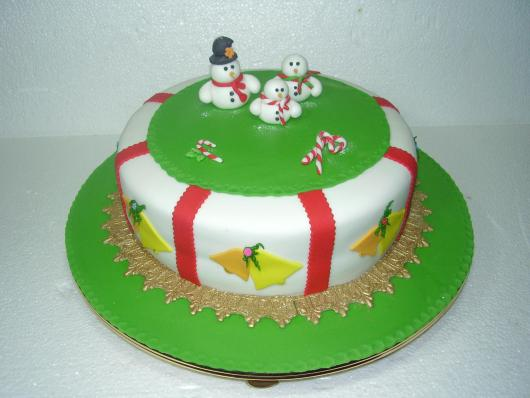 Simple Christmas Cake American Red and White Green Folder