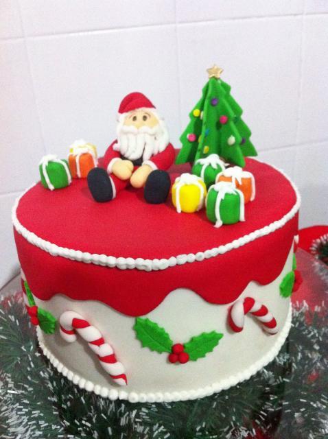 Simple Christmas Cake American Santa Claus Folder